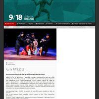 シビウ国際演劇祭公式HP画面