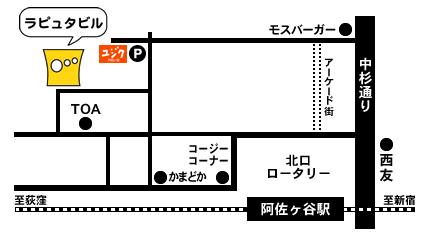 ザムザ阿佐谷 地図